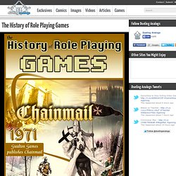 The History of Role Playing Games - Video Game Infographic