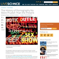 The History of Pornography No More Prudish Than the Present