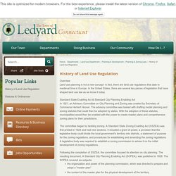 USA History of Land Use Regulation