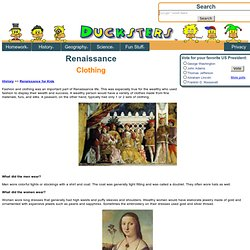History: Renaissance Clothing for Kids
