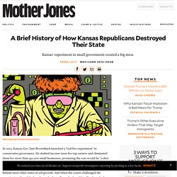 A Brief History of How Kansas Republicans Destroyed Their State