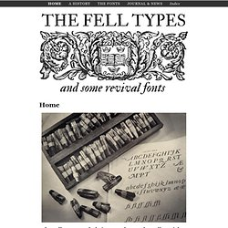 A history and some revival fonts < The Fell Types