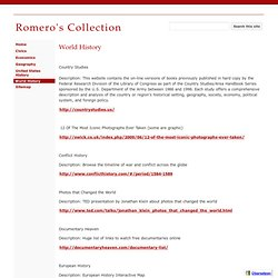 World History - Romero's Collection