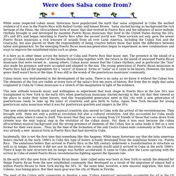 History of Salsa