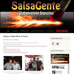 History of Salsa Music & Dance - SalsaGente