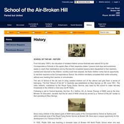 History - School of the Air-Broken Hill (download the 1965 magazine)