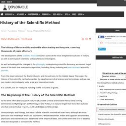 history scientific method The scientific method is a disciplined, systematic way of asking and answering questions about the physical world though it can be useful to think of the scientific method as a simple series of steps, in fact, there is no single model of the scientific method that can be applied in all situations.