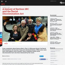 A history of Section 18C and the Racial Discrimination Act