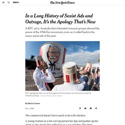 In a Long History of Sexist Ads and Outrage, It's the Apology That's New