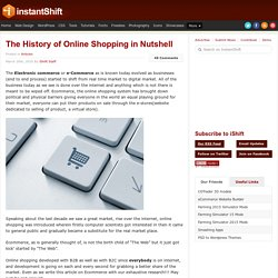 The History of Online Shopping in Nutshell