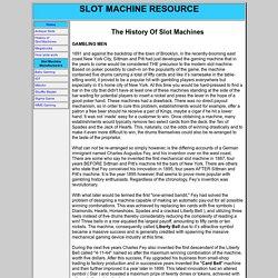 History of Slot Machines