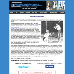 History of Softball