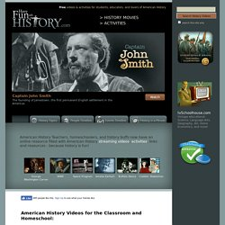 U.S. History: Free streaming history videos and activities