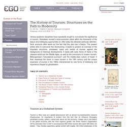 The History of Tourism: Structures on the Path to Modernity