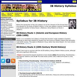 IB History Syllabus