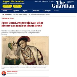 From Corn Laws to cold war, what history can teach us about Brexit