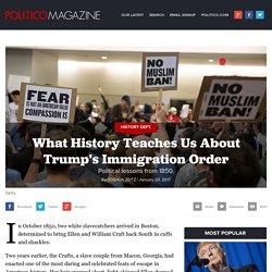 What History Teaches Us About Trump's Immigration Order