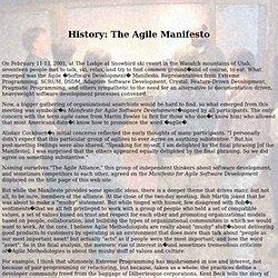 History: The Agile Manifesto