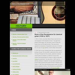 History of the Classical Guitar