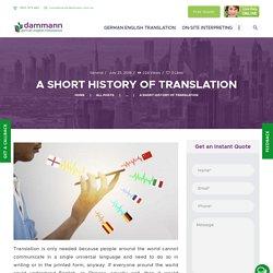 A Important Short History Of Translation
