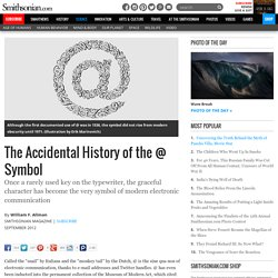 The Accidental History of the @ Symbol