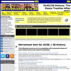 GCSE/IB History: The Peace Treaties After WW1