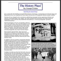 Triumph of Hitler: Nazis Boycott Jewish Shops