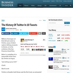 The History Of Twitter In 10 Tweets