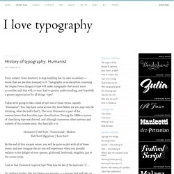 History of typography: Humanist