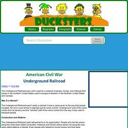 Kids History: Underground Railroad