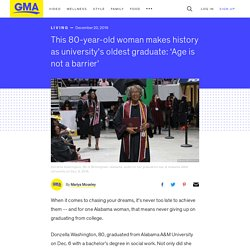 This 80-year-old woman makes history as university's oldest graduate: 'Age is not a barrier'