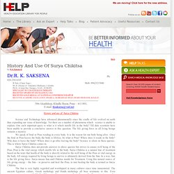 History and use of Surya Chikitsa