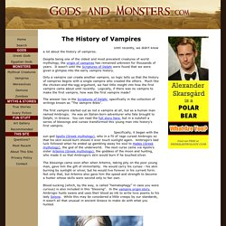 The History of Vampires - The Untold Story
