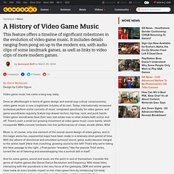 A History of Video Game Music