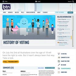 History of Voting: 24/05/2016, Behind the News