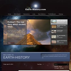 Earth-history Main Index