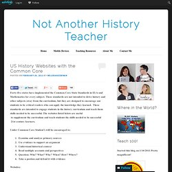 US History Websites with the Common Core