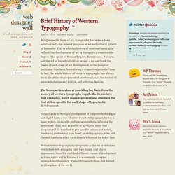 Brief History of Western Typography