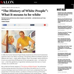 """The History of White People"": What it means to be white"