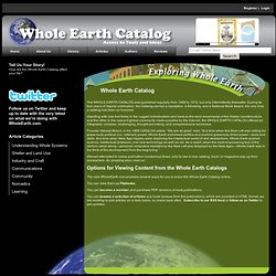 History of Whole Earth Catalog