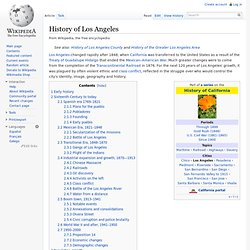 History of Los Angeles