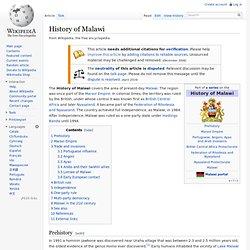 History of Malawi