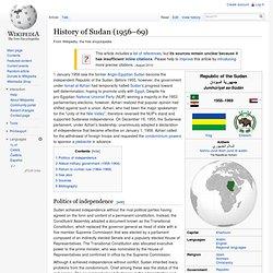 History of Sudan (1956–69)