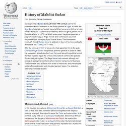 History of Mahdist Sudan