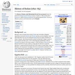 History of Sudan (1821–85)