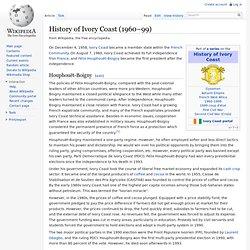 History of Ivory Coast (1960–99)