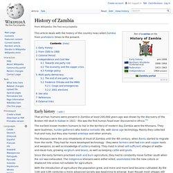 History of Zambia