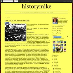 historymike: The Fall of the Weimar Republic