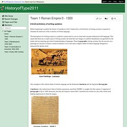 HistoryofType2011 - Team 1 Roman Empire 0 - 1300