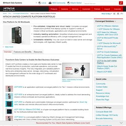 HDS: Hitachi Unified Compute Platform (UCP) Portfolio